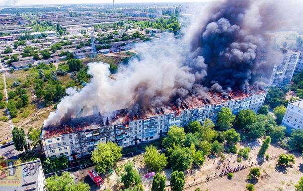 В Новой Каховке произошел пожар в многоэтажке
