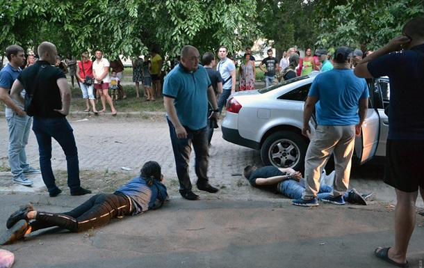 В Одесі з гонитвою затримали етнічну групу