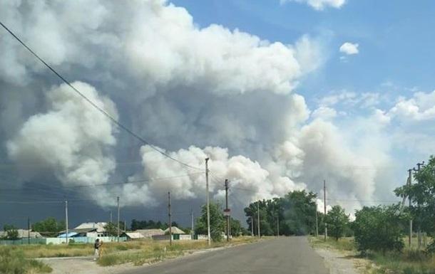 На Луганщине началась эвакуация из-за пожара