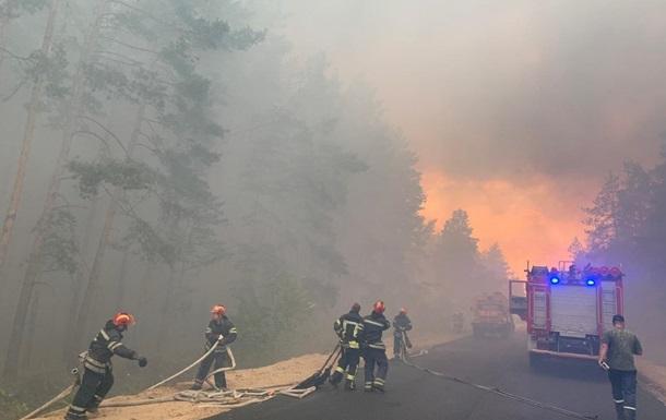 Пожар на Луганщине тушат ВСУ и Нацгвардия