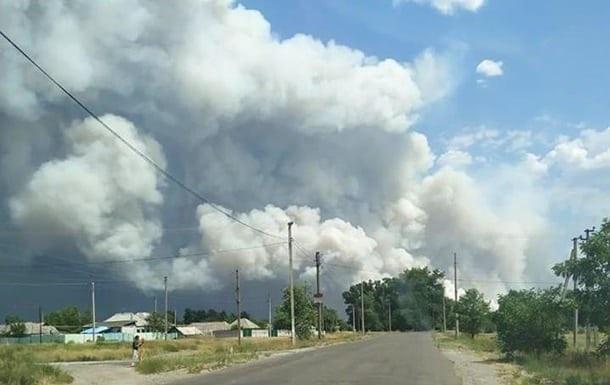 Сепаратисты мешают тушить пожар на Луганщине − глава ОГА