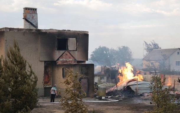 Пожежі на Луганщині: кількість жертв і постраждалих зросла