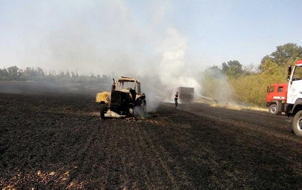 Зеленский приехал на пожары в Луганскую область