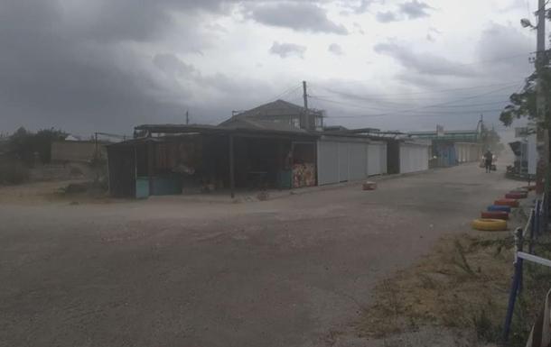 На Одесчине мощную песчаную бурю сняли на видео