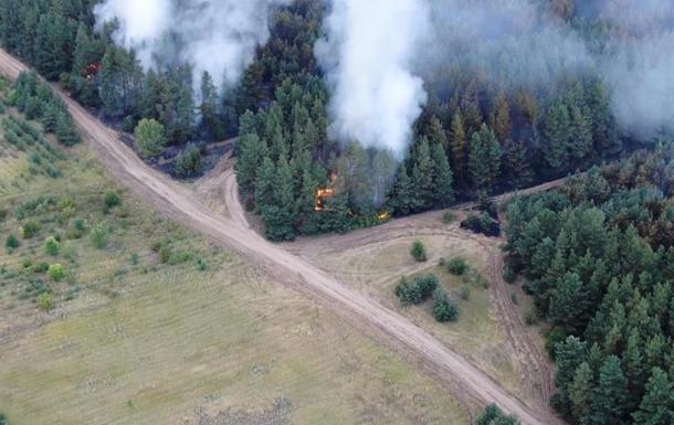 Пожежі на Луганщині показали з безпілотника