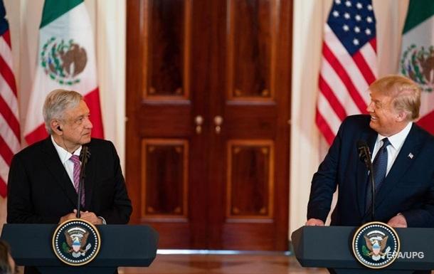 Трамп вперше зустрівся з президентом Мексики