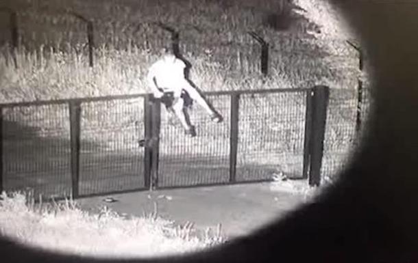 На Харьковщине нарушитель границы попал на видео