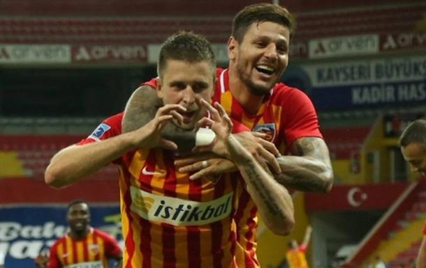 Гармаш і Кравець забили по голу в матчі Різеспор - Кайсеріспор