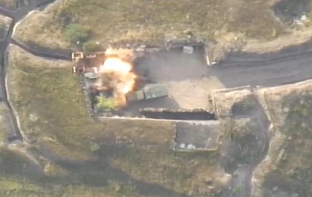 Обстрел Азербайджаном позиций Армении показали на видео