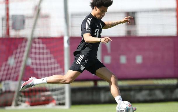 Сане провів перше тренування в Баварії