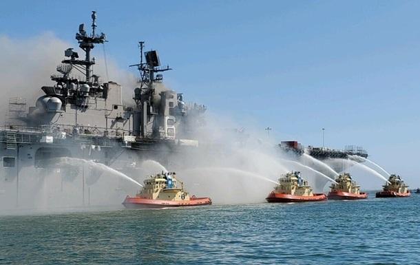 У США загасили пожежу на десантному кораблі ВМС