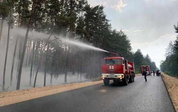 Обстрел сепаратистов спровоцировал лесной пожар на Луганщине