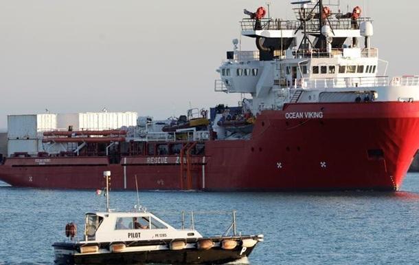 Влада Італії заборонила виходити у море судну Ocean Viking, яке рятує мігрантів