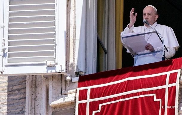 Папа Римський привітав перемир я на Донбасі