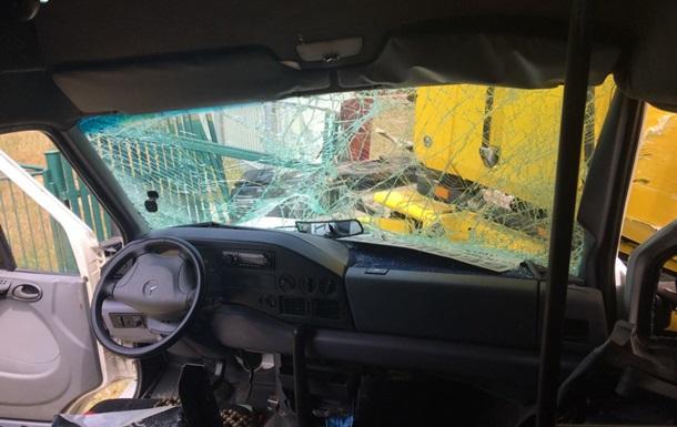 На Вінничині сталася аварія через п яного пасажира маршрутки