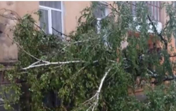 У західних регіонах негода повалила дерева і затопила вулиці