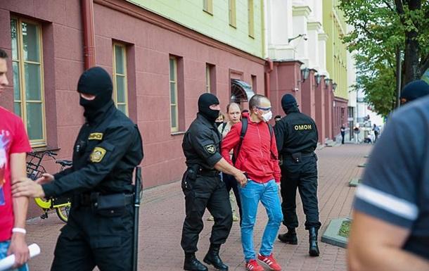 В Минске задержали 50 человек у здания КГБ