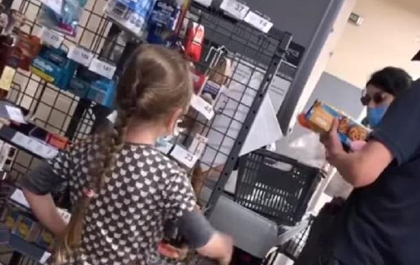 В магазине Харькова девочка отборно материла родителей