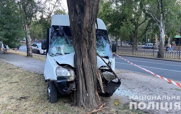 В Николаеве маршрутка влетела в дерево: девять пострадавших
