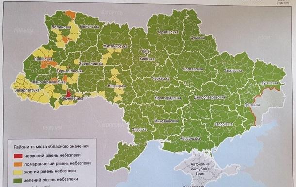 Минздрав объяснил раздел Украины на зоны