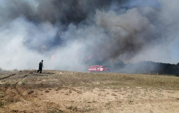 В Николаевской области вспыхнул крупный пожар