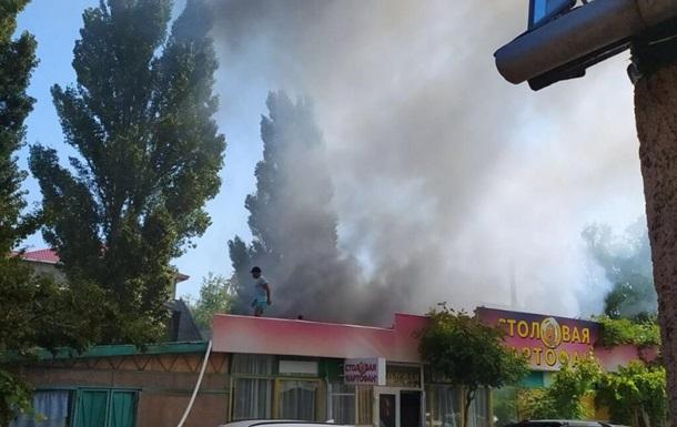 На базі відпочинку в Затоці спалахнула пожежа