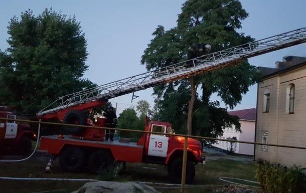 В Житомирской области горел костел