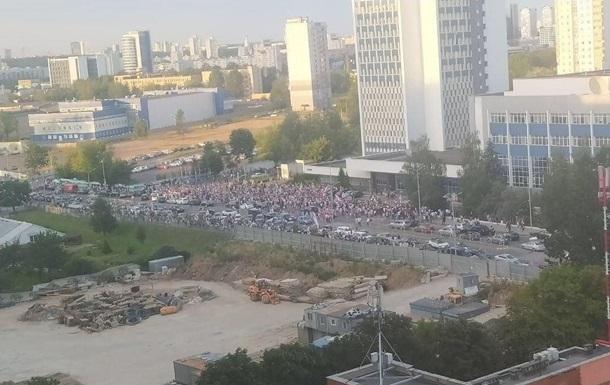 В Минске проходит акция у здания госТВ