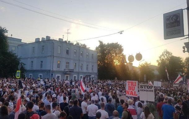 Активисты в Минске требуют отпустить задержанных