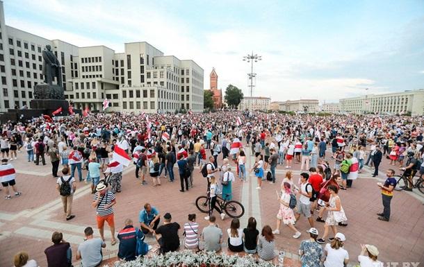 У Мінську зібрався велелюдний мітинг протесту
