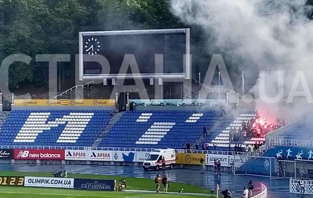 Ультрас Динамо с файерами прорвались на стадион