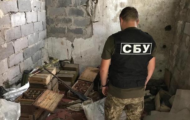 В Донецкой области СБУ обнаружила тайник с оружием