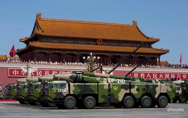 У США визнали перевагу Китаю в озброєнні