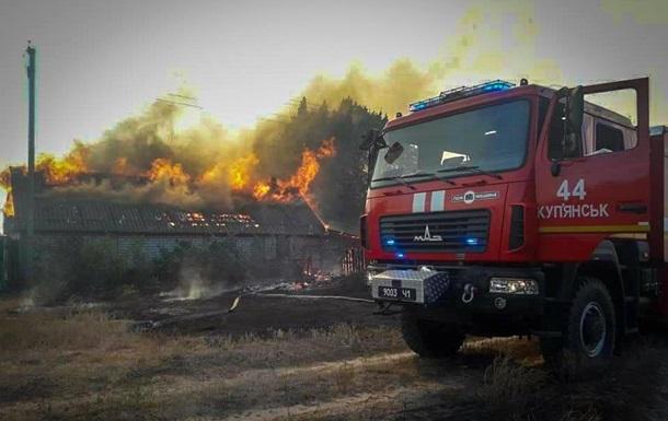 Пожар на Харьковщине полностью уничтожил село