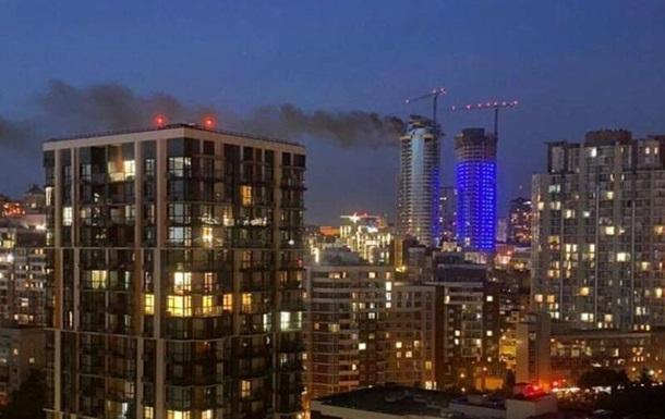 В центре Киеве горела элитная 'высотка'