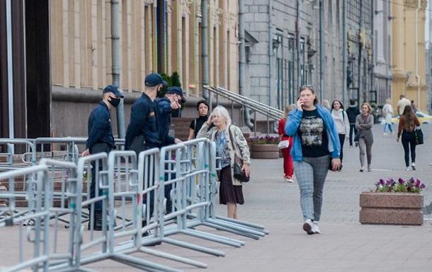 Центр Минска перекрыли белорусские силовики