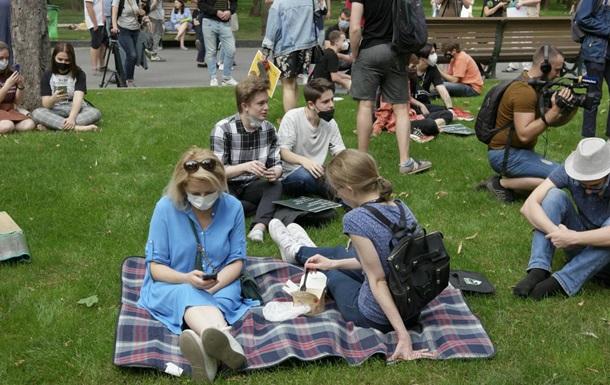 У Харкові студенти протестують за право ходити по газонах