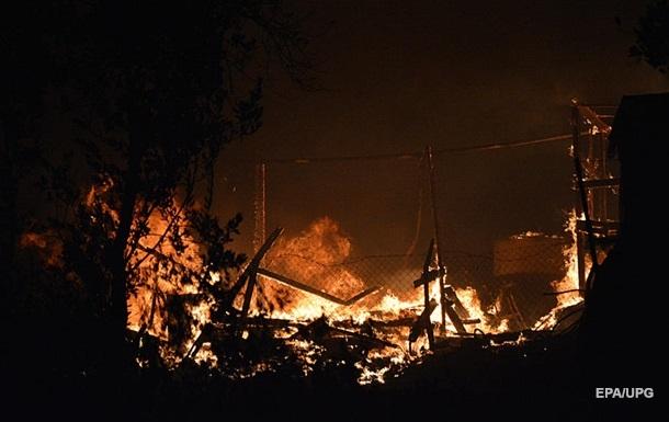 В Греции сгорел лагерь для мигрантов, в котором были больные COVID