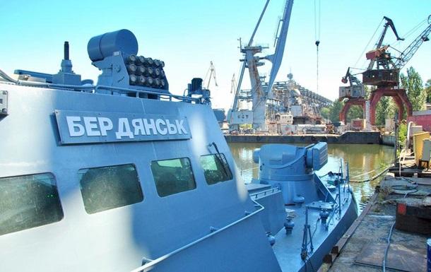 Захваченный Россией катер Бердянск спустили на воду