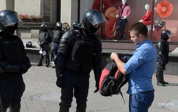 На протестах в Минске начались задержания