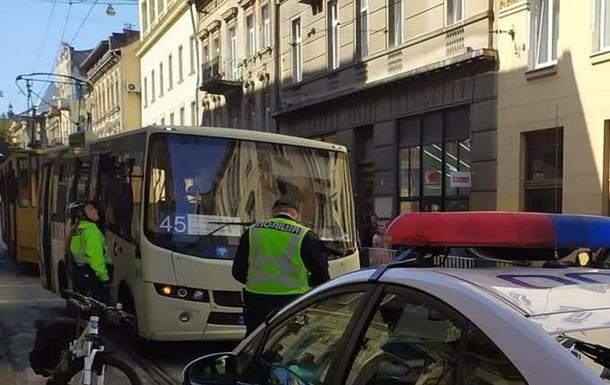 Во Львове девушку экс-главы САП зацепила маршрутка на переходе