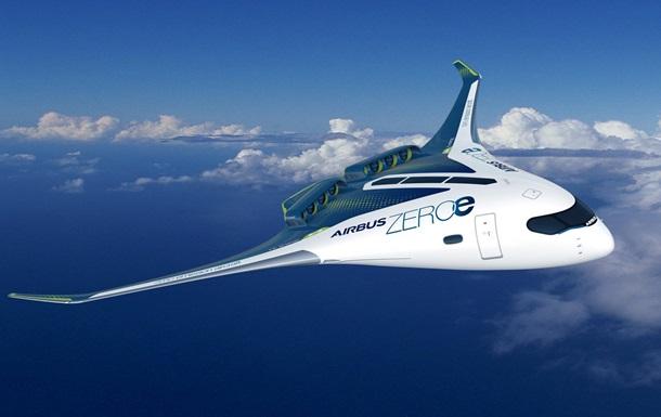 Airbus показал концепты самолетов с нулевыми выбросами
