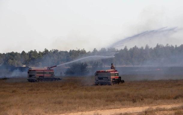 На полигоне ВСУ произошел пожар во время стрельб