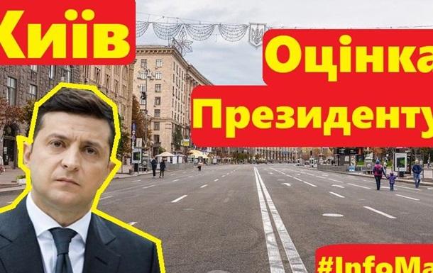 Оцінка Зеленському як Президенту Вуличне опитування в Києві