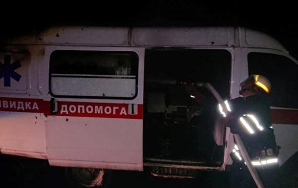 Под Харьковом горела скорая помощь