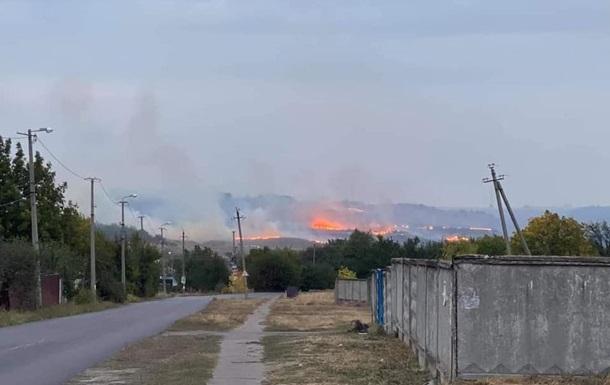 Возле Краматорска вспыхнул масштабный лесной пожар
