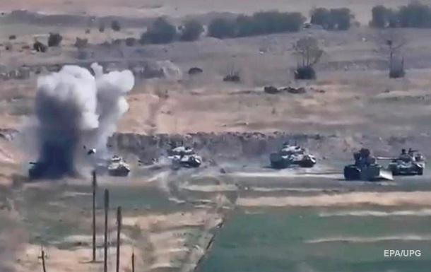Армения опубликовала видео танкового наступления