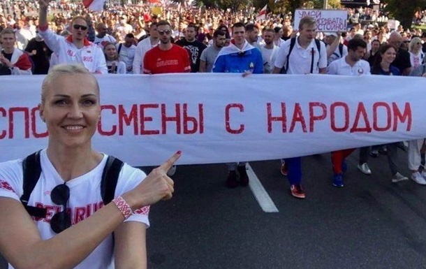 В Беларуси баскетболистку сборной арестовали за акции протеста