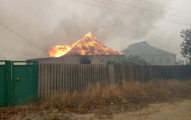 На Луганщині назвали ймовірну причину виникнення пожеж