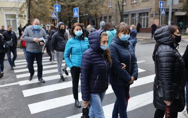 В Киеве протестующие перекрыли дорогу